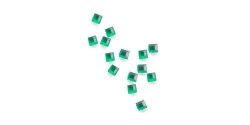Chen, de strass carré – environ 50 Stck. – 18 émeraude/vert