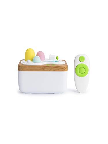 Jushi Lampe aromathérapie idyllique Humidifier 420ml Télécommande USB Aroma Humidificateur avec LED Diffuseur d'air