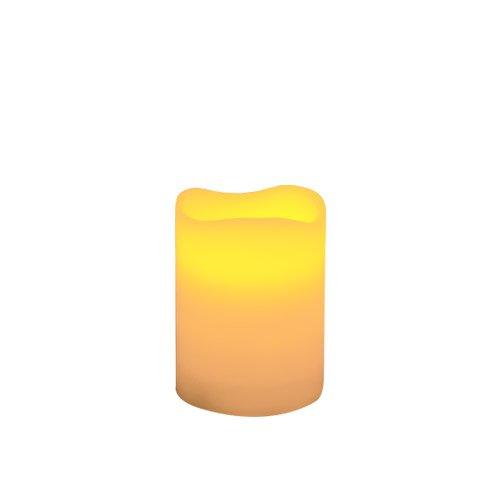 Skylantern Original 2463 - Vela tipo cirio LED (7 x 10 cm, borde ondulado)