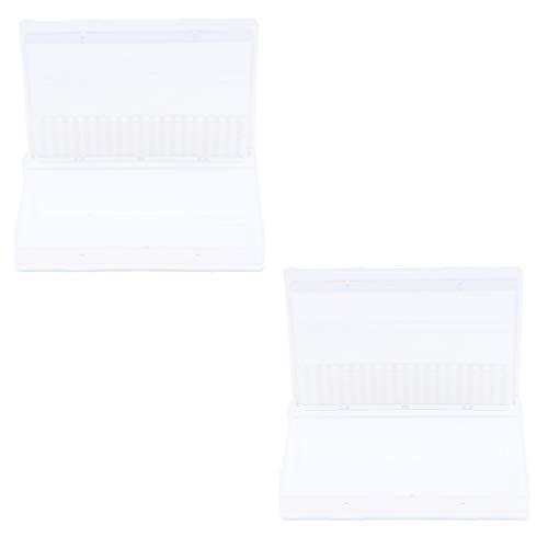 IPOTCH 2pcs Boîte de Rangement Embout de Ponceuse à ongles Acrylique Organiseur de Foret de Clous de Salon ongle