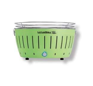 LotusGrill XL LG G435 U GR Barbecue con batterie e cavo di alimentazione USB, 43,5 x 25,7 cm, Verde
