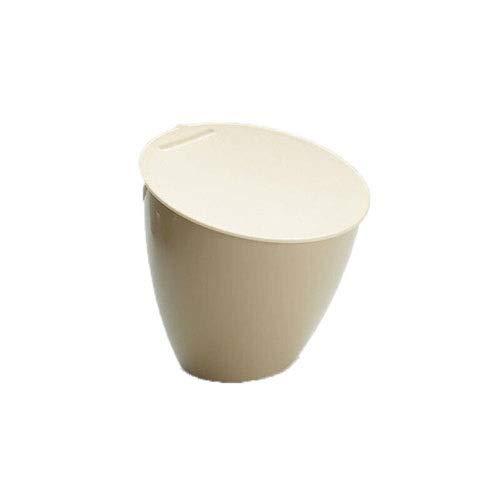 Yoov Resina de plástico Fuerte Redondo Papelera de Basura/Cesta/Almacenamiento Ideal para el hogar...