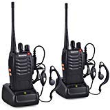 BaoFeng SPY BF-888S Walkie Talkies Long Range Radios UHF 400-470Mhz 16 Channels 1500mAh Li-ion Rechargeable Battery Earpiece for Adults (2 Pack, Black) (Original Product Sold by sEC-spydo Electronics Company Only)