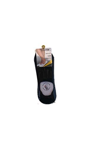 MERITEX , 6 paia calzini invisibili salvapiede con silicone sul tallone in cotone filo di...