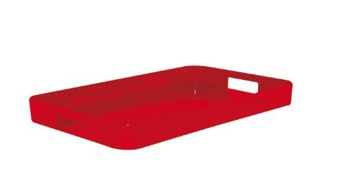 Zak Designs 0078-0024 Plateau Gallery Nouveau Design Rouge 32,5 X 26 cm