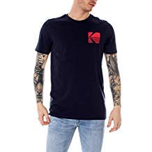 T-Shirt Jack & Jones Snap Uomo Blu girocollo Con Logo Kodak 12149092 Blu-snap