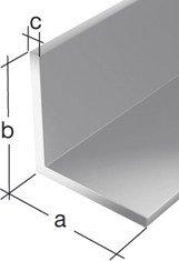 GAH.ALBERTS Winkelprofil 10 x 2 mm, aluminium 2 m 7461, silber eloxiert, 47461 4
