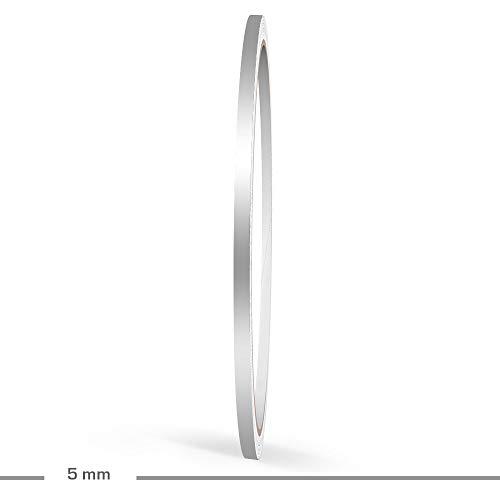 SCHWARZ MATT aufgeteilt in 5 mm Streifen + 2 mm ABSTAND + 3 mm Streifen 10 Meter f/ür Auto Boot Motorrad und Modellbau Doppel Zierstreifen 10 mm
