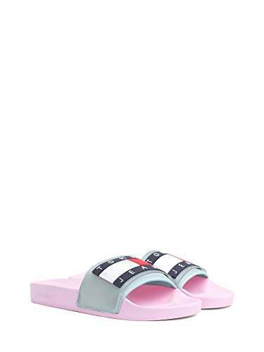 Tommy Jeans Translucent Flag Pool W Badeschuhe pink Mist (Translucent)