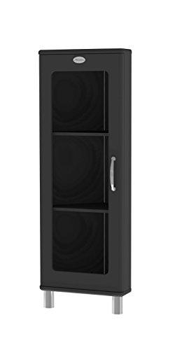 Tenzo 5203-033 Malibu Designer Eckvitrine, MDF lackiert, 143 x 50 x 39 cm, schwarz