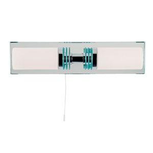 Salle de bain avec interrupteur double Applique murale, style moderne avec miroir plaque arrière, 5612–2 CC