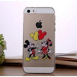 for Coque iPhone 5 / 5S - Disney Mickey & Minnie Mouse Apple Logo Clear Transparent Hard Back Protector Case Coque Cover *Includes Free Tempered Glass* [Apple Coque iPhone 5/5S Only] (Mickey & Minnie Balloons)