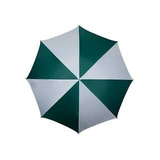 Elyte Retail Green And White Parasol With Tilting Action 1.6 Metres Dia. 160cm 1600mm