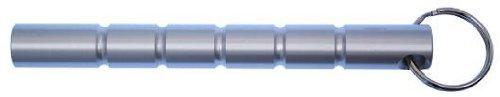 G8DS® Kubotan Key Chain, Schlagstock, Druckverstärker, Silber, Griff geriffelt