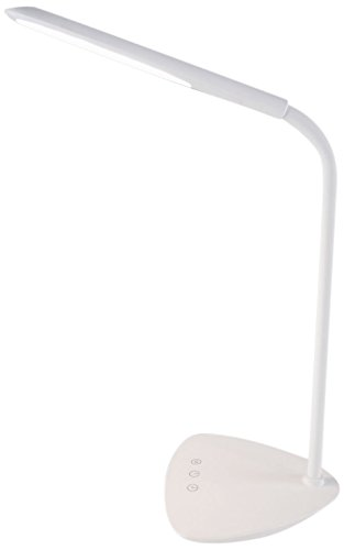 @tec Tageslichtlampe mit Sleep-Timer Funktion, dimmbare LED Schreibtischlampe, Arbeitsleuchte, Tischlampe mit Akku, Touch-Dimmer, 3 Lichtfarben 3500-6500K (warmweiß / kaltweiß / Tageslicht) (Timer Dimmer)