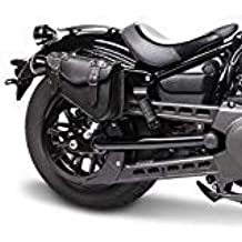 d09d7bec26 Borsa Cuoio Pelle Nera Mono Laterale Lato Sinistro Harley Davidson  Sportster XL 883 1200 48 Nightster Iron Custom Low Super Low Roadster Forty  Eight Seventy ...