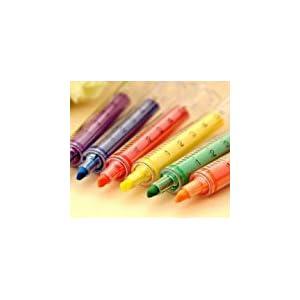 Zantec Spritze Textmarker Filzspitzen – verschiedene Farben und Packungen (6 Stück)