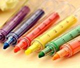 Zantec Spritze Textmarker Filzspitzen - verschiedene Farben und Packungen (6 Stück)