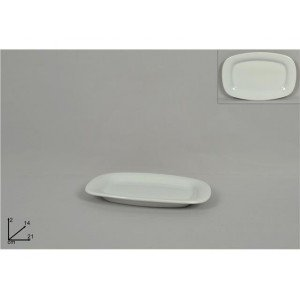A.K TRADING Assiette Blanche RECT 21 X 14 CM REF 8102 Code 2635
