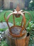 """Edelrost Krone """"Lilie"""" 54x50cm rostige Gartendekoration"""