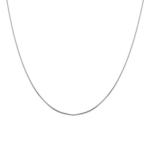 Clara Anti-Tarnish 92.5 Sterling Silver Classic Chain Necklace in 16 18 24 inches for Women & Girls