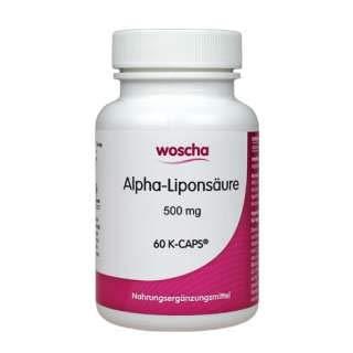 woscha Alpha-Liponsäure 500mg 60  K-CAPS® (vegan) - Alpha-liponsäure Cap
