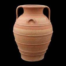 Crétoise traditionnel fait à la main en terre cuite pot plantaire avec Superbe décoration – \\