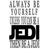 Jedi Luke Skywalker Yoda Star Wars Inspiriert Vinyl Aufkleber Sticker|Black|Cars Trucks Vans SUV Laptops Wall Art|5.25