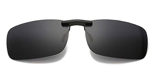 Clip on Sunglasses,UV400 Flip-Up Polarised Sunglasses - Convenient and Secure Fit over Prescription Eyeglasses Ideal for Driving and Outdoors Mens/Womens