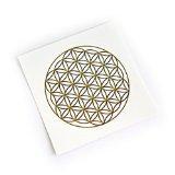 Sticker / Aufkleber BLUME DES LEBENS groß – Wandtatoo - Fenstersticker - Spiritualität - Yoga - Esoterik -Meditation - Astrologie - Feng Shui - Deko