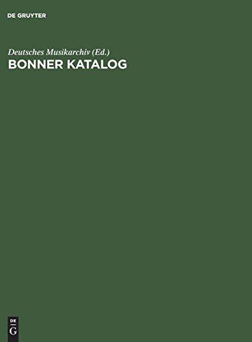 Bonner Katalog: Verzeichnis reversgebundener musikalischer Aufführungsmateriale