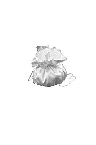 Brautbreutel Brauttasche für Brautkleid und Hochzeit aus Satin - T1 (ivory/champagner)