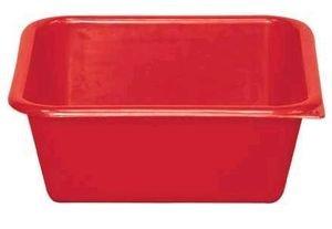 ALUMINIUM ET PLASTIQ Cuvette carrée 29cm 5.5l Rouge