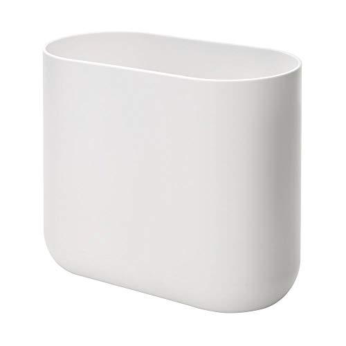 iDesign Cade Mülleimer für Bad oder Küche, kleiner Abfalleimer aus Kunststoff, weiß