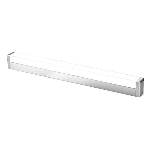 WENYAO Eitelkeit Badezimmer Licht Badezimmerspiegel Frontleuchte Waschbecken einfache Moderne Make-up Beleuchtung-Silber (weißes Licht, 45CM / 9W, 59CM / 12W) (Größe: 59CM / 12W) -