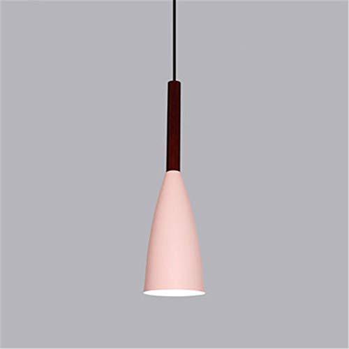 LED Kronleuchter Für Wohnzimmer Holz Glanz E27 Kronleuchter Beleuchtung Mit Lampenschirme Esstisch Kronleuchter Küche Lampen, Pink-D10cm