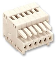 TERMINAL BLOCK, PLUGGABLE, 6POS, 20AWG 733-106. By WAGO -