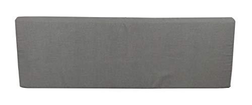 HERLAG Paletten Rückenkissen Premium (Rückenlehne, Farbe grau, waschbarer Bezug, Maße 120x40x8 cm) P207084-2166