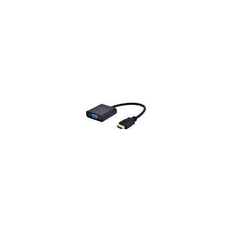 Gembird A HDMI VGA 03 VGA HDMI Negro Adaptador de Cable   Adaptador para Cable (VGA, HDMI, Macho/Hembra, Negro, 1920 x 1080 Pixeles, CH7101)