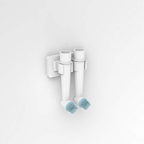Plexico Zahnbürstenhalter für elektrische Zahnbürste, zur Wandmontage, glänzend, Weiß, acryl, Gloss White, 2 Head