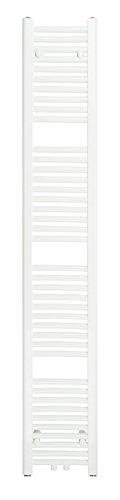 SixBros. R18 Badheizkörper (1750 x 300 mm, Watt 616) - Heizkörper mit Handtuchhalter für das Bad - pulverbeschichtet - weiß - Glanz Weiß Pulverbeschichtet