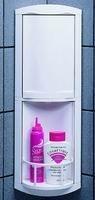 Design Eckablage Ablage drehbar 2-teilig in weiss aus Kunststoff