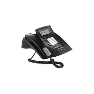 Agfeo system phone ST 22 IP black - bewegliches 2-zeiliges Display, 10 Funktionstasten, 7 Klingelmelodien, handsfree, Lauthören, Stummschaltung, Anrufliste, CTI geeignet, Headsetanschluss, Zugriff at systembezogene Telefonbucheinträge
