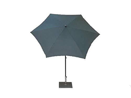 Maffei Art 135-6 Kronos parasol rond cm 250, tissu polyester d'haute qualité imperméable, Made in Italy. Couleur gris