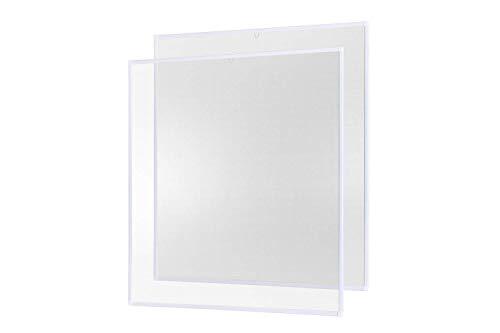 Insektenschutz Fliegengitter Fenster Alurahmen Basic weiß, 130 x 150 cm 2er Set