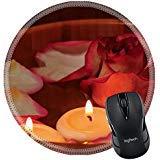 MSD Mousepad rund Maus Pad/Matte 34757429llecto Rosenblätter Kerzen und Rose in Schüssel mit Wasser Selektiver Fokus auf die Kerze