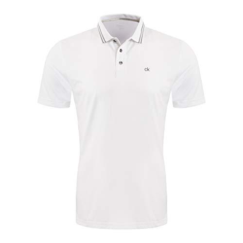 Calvin Klein Weiße Körper (Calvin Klein Herren Madison Polo Golf-T-Shirt, weiß, X-Groß)