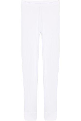 Iris & Lilly Calzamaglia Termica Donna (Pacco da 2) Bianco (White)