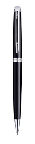 Waterman Hemisphere portaminas negro con adornos cromados, con estuche