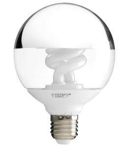 Kopfspiellampe Globelampe 20W E27 Ø95x130mm - espejo Kopfspiegel Energiesparlampen